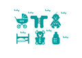 Baby and newborn vector icon set stock vector Stock Images