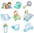 Baby and Nursery icons Stock Photos