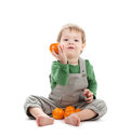 Baby with oranges Royalty Free Stock Photography