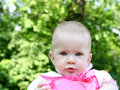 Baby outdoor portrait Royalty Free Stock Photography