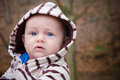 Baby outside a cute on a nice fall day Royalty Free Stock Photo