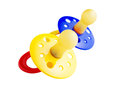 Baby pacifiers isolated white Stock Photo