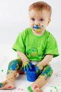 Baby painter Royalty Free Stock Photo