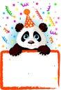 Baby Panda Birthday Royalty Free Stock Photos