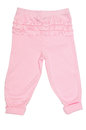 Baby pants pink on over the white Royalty Free Stock Image