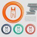 Baby pantyhose icon on the red, blue, green, orange buttons for your website and design with space text.