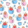 Baby pattern Royalty Free Stock Photo