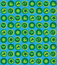 Baby pattern blue green Stock Photography
