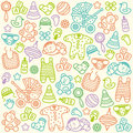 Baby pattern seamless with colorful icons Royalty Free Stock Photos