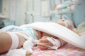 Baby in the pediatric ICU Royalty Free Stock Photography
