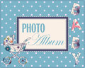 Baby photo album cover Royalty Free Stock Photo