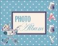 Baby photo album cover Royalty Free Stock Photo