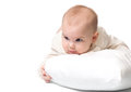 Baby with a pillow Stock Photos