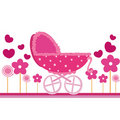 Baby pink card Stock Images
