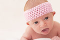 Baby with Pink Headband Royalty Free Stock Photos