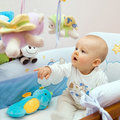 Baby playing Royalty Free Stock Photos