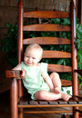 Baby on Porch Royalty Free Stock Image
