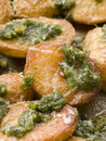 Baby Potatoes roasted with Pesto Royalty Free Stock Image