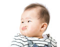 Baby pout lip isolated on white Stock Images