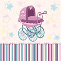 Baby pram for the little ones vector illustration Stock Photos