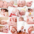 Baby and pregnancy collage Royalty Free Stock Photo