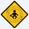 Baby protection sign Royalty Free Stock Photos