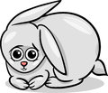 Baby rabbit bunny cartoon illustration of cute little animal or Stock Photos