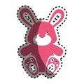 Baby rabbit isolated icon
