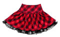 Baby red plaid skirt Royalty Free Stock Photo