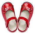 Baby red shoes on white Royalty Free Stock Photo