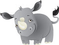 Baby rhino a cute cartoon from africa Stock Photo
