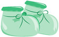 Baby s bootees light green booties clip art vector illustration Stock Photos