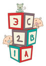 Baby's Building Blocks Royalty Free Stock Image