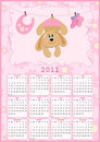 Baby's calendar for 2011 Royalty Free Stock Image