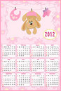 Baby's calendar for 2012 Royalty Free Stock Images
