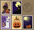 Baby's postage marks and stamps Stock Images