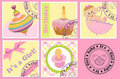 Baby's postage marks and stamps Royalty Free Stock Photo