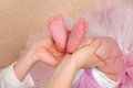 Baby's sweet feet Royalty Free Stock Photo