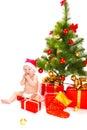 Baby santa Royaltyfri Foto