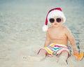 Baby Santa Royalty Free Stock Photo