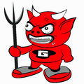 Baby satan is from hell and getting angry of something Stock Images