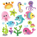Baby Sea Creatures Royalty Free Stock Photography