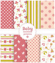 Baby seamless patterns. Vector set. Royalty Free Stock Images