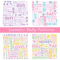 Baby seamless typography pattern easy to edit illustration of Royalty Free Stock Image