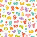 Baby seamless wallpaper background eps vector illustration Stock Photography