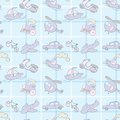 Baby Seamless Wallpaper Transportation