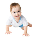 Baby in a shirt creeps beautiful Stock Images