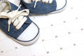 Baby shoes calendar many scheduling representations Stock Photos