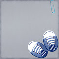 Baby shoes illustration of for male Royalty Free Stock Photography