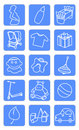Baby shop icons Royalty Free Stock Photo